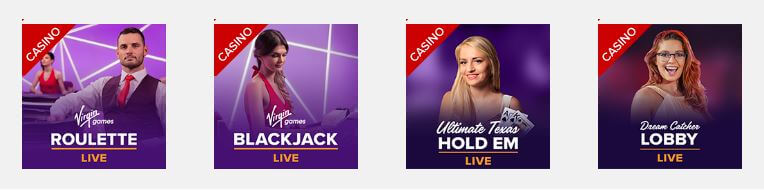 live casino Virgin Games