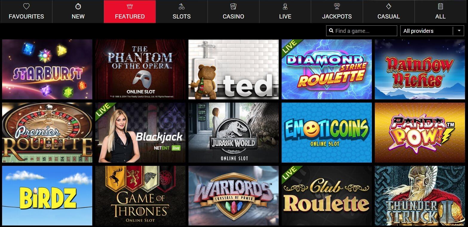 O'Reels Casino Games
