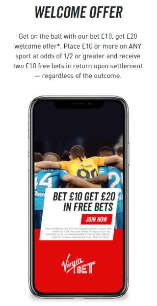 Virgin Bet Welcome Offer
