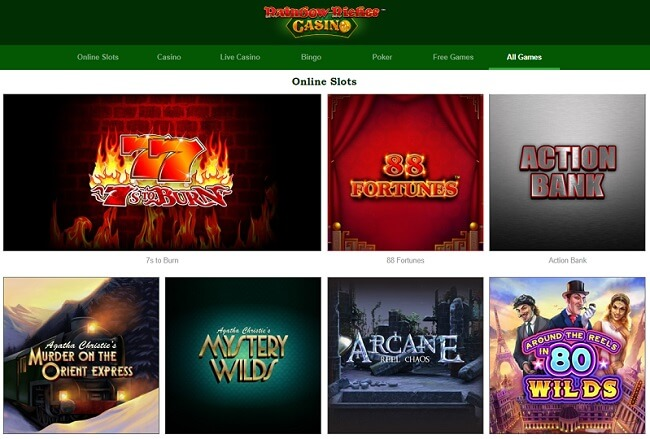 Rainbow Riches Casino Games