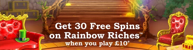 Rainbow Riches Casino Promo Code