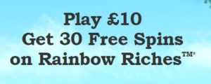 Rainbow Riches Casino Sign Up Offer